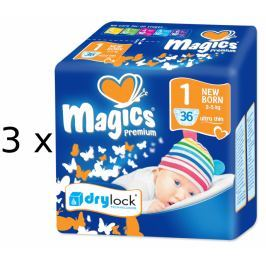 Magics Pieluszki Premium Newborn Jumbopack 108