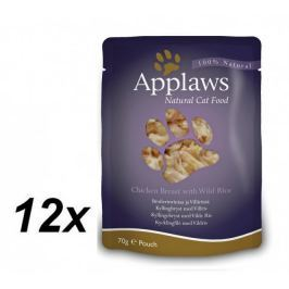 Applaws saszetki dla kota Chicken & Wild Rice 12x70g