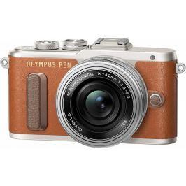 Olympus aparat E-PL8 + 14-42 EZ, brązowy