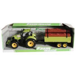 Mac Toys traktor z przyczepą na drewno, zielony