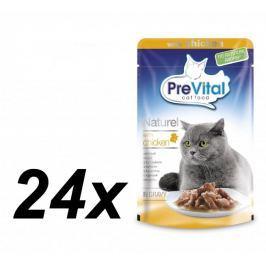 PreVital saszetki dla kota NATUREL z kurczakiem w sosie - 24 x 85g