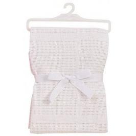 BabyDan Bawełniany koc 75x100 cm, biały