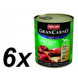 Animonda mokra karma dla psa GranCarno Adult mięso z jelenia + jabłko 6 x 800g