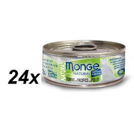 Monge mokra karma dla kota Natural tuńczyk z kurczakiem  24 x 80 g