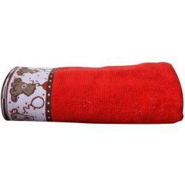 Greno Ręcznik dziecięcy Sweet Bear 70x125 cm, czerwony