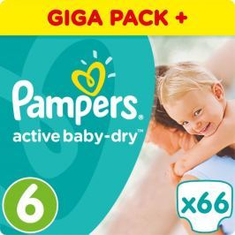 Pampers Pieluchy Active Baby 6 Extra Duże, 66 sztuk