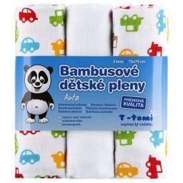 T-tomi Pieluszki bambusowe (3 szt.), Auta