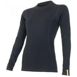 Sensor koszulka termoaktywna z długim rękawem Double Face Merino Wool W Black M