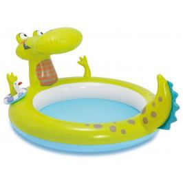 Intex Dmuchany basen z fontanną Krokodyl 198 x 160 x 91 cm 57431