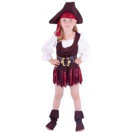 Rappa Kostium piratki z butami i kapeluszem,XS