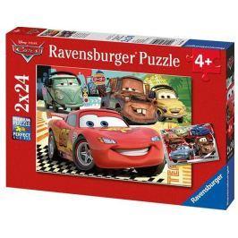 Ravensburger Puzzle 2w1 Auta 2 Przyjaciele 2x20 el.