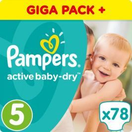 Pampers Pieluchy Active Baby 5 Junior (11-18 kg) Giant Box - 78 szt.