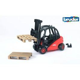 BRUDER wózek widłowy Linde H30D + 2 palety