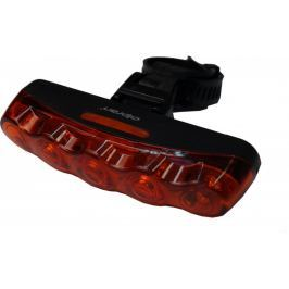 Olpran lampka tylna 5 red LED black