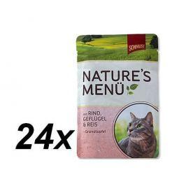 Schmusy saszetki dla kota Nature´s Menu Drób + Wołowina 24 x 100g