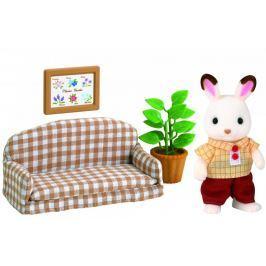 Sylvanian Families Czekoladowe króliki - tata na kanapie 2201