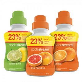 Sodastream syropy pomarańczowy, cytrynowy, grejpfrutowy 750 ml