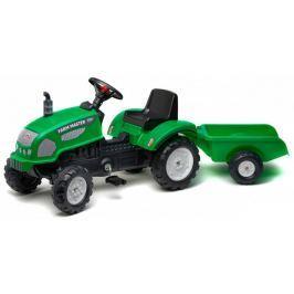 Falk Traktor Farm Master z przyczepą zielony