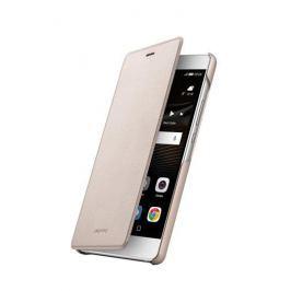 Huawei etui z klapką dla P9 Lite, złoty