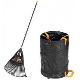 Fiskars zestaw Solid grabie do liści oraz torba ogrodowa