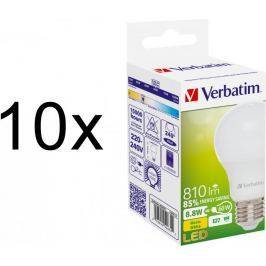 Verbatim LED žárovka E27 8,8W 810lm 10ks