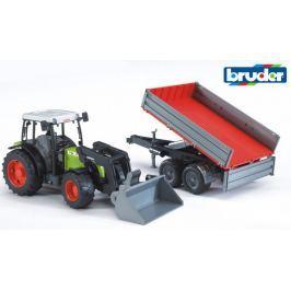 BRUDER Traktor Class Nectis 267F z ładowaczem i przyczepą 02112