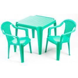 Grand Soleil Stolik i dwa krzesła dla dzieci, zielone