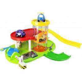 Eddy Toys Garaż dwupoziomowy, 2 auta + helikopter, 366