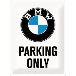 Postershop Metalowa tabliczka 30x40 cm BMW Parking Only (biała)