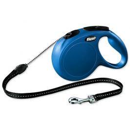 Flexi smycz New Classic, M, 8m/20kg - niebieska