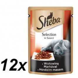 Sheba saszetki dla kota Selection In Sauce z Wolowiną 12x85g