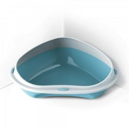 Argi Narożna kuweta dla kota 58x48x20,5 cm, niebieska