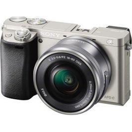 SONY A6000 + 16-50mm, srebrny