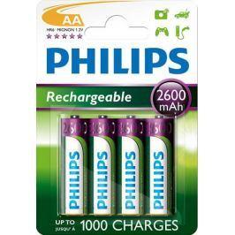 Philips baterie AA 4ks 2600mAh Rechargeables (R6B4B260/10)