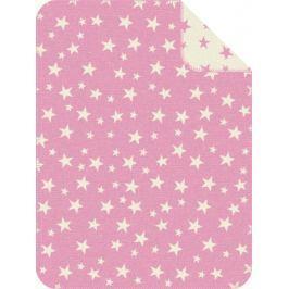 s.Oliver Dziecięcy koc żakardowy, różowe gwiazdki