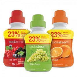 Sodastream syropy pomarańczowy, winogronowy i owoce leśne 750 ml