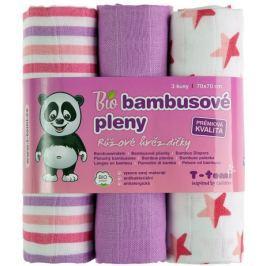 T-tomi BIO Pieluchy bambusowe, różowe gwiazdki