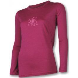Sensor koszulka termoaktywna z długim rękawem Merino Wool PT W Orchidea Lila L