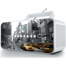 Muse radioodtwarzacz M-28, biały/szary