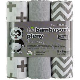 T-tomi BIO Pieluchy bambusowe, szare daszki
