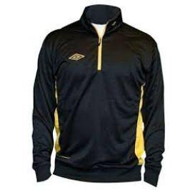 Umbro bluza Adnan 1/2 ZIP Jr Black/yellow 128