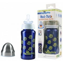 Pacific Baby Termobutelka Hot-Tot 200 ml, niebieska