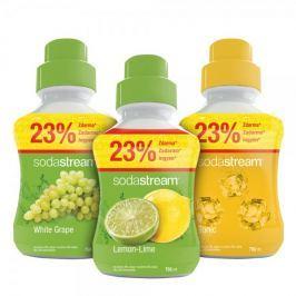 Sodastream syropy cytrynowy, winogronowy i tonic 750 ml