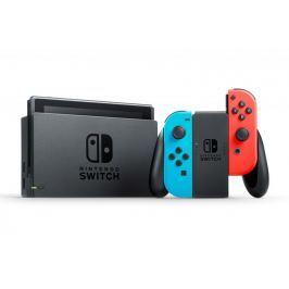 Nintendo konsola Switch + kontrolery Joy-Con niebieski/czerwony
