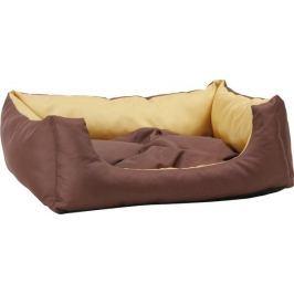 Argi prostokątne legowisko z poduszką, brązowe, rozm. S