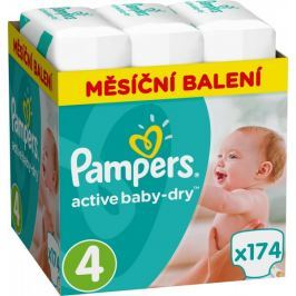 Pampers Pieluchy Active Baby 4 Maxi (8-14 kg) Miesięczny zapas- 174 szt.