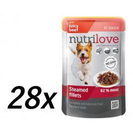 Nutrilove saszetki dla psa z wołowiną 28 x 85g