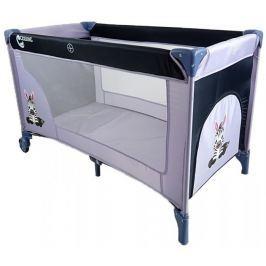COSING łóżeczko podróżne ADAM - Zebra Grey