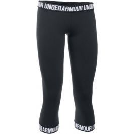 Under Armour legginsy Favorite Capri Hem Black Black White M