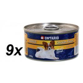 Ontario mokra karma dla psa Chicken Pieces+Chicken Nugget 9 x 200g